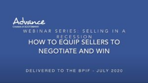 An online sales training webinar to improve sales processes to support negotiating