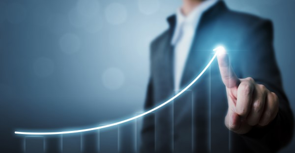 A sales forecast increases due to strong opportunity management processes